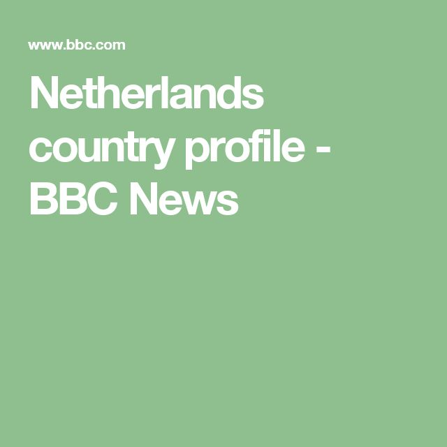 Netherlands country profile - BBC News