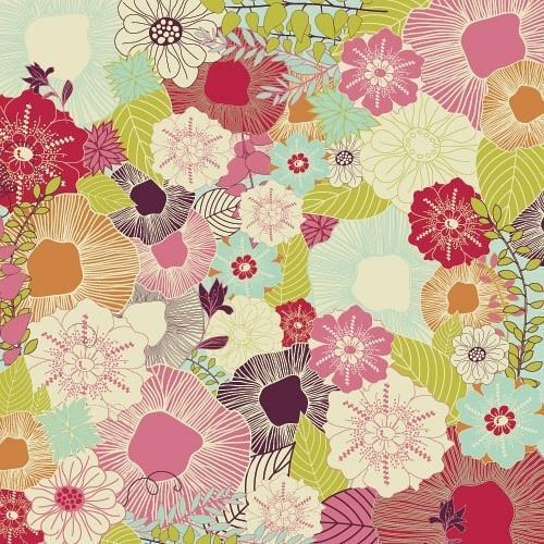 水彩手绘 花碎花 田园墙纸 背景素材平铺 iPhone壁纸╯з ︶ 麽麽