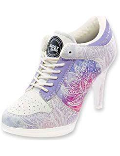 fd58aa49b214f2 MISSY ROCKZ Sneaker High Heels by Wonderful Lotus weiß lila Purple ...