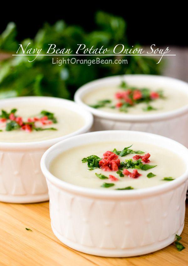 Navy Bean Potato Onion Soup