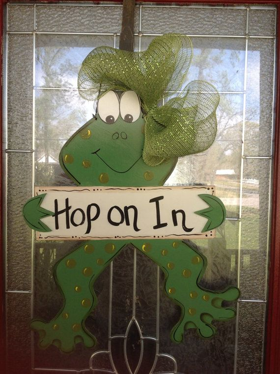 Ready to Ship  Frog Door hanger designed by by samthecrafter, $35.00