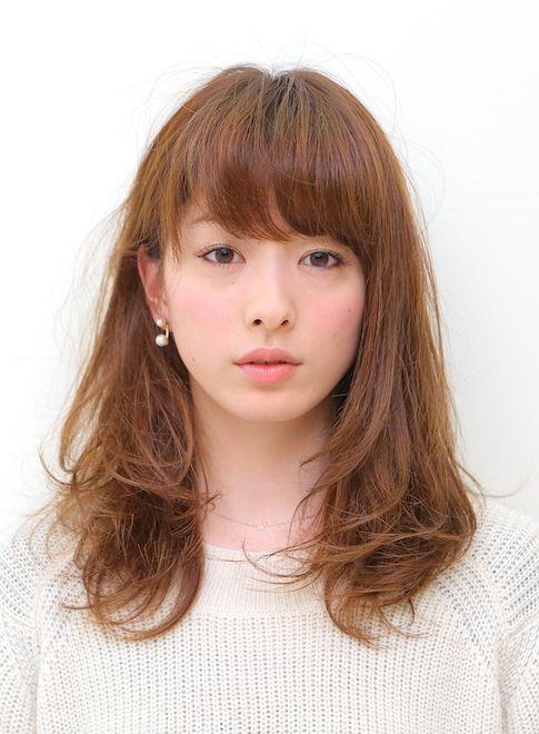 『ナチュラル』レイヤーミディアム 【BRIDGE】 http://beautynavi.woman.excite.co.jp/salon/21483?pint ≪ミディアム・ヘアスタイル・medium・hairstyle・髪形・髪型≫