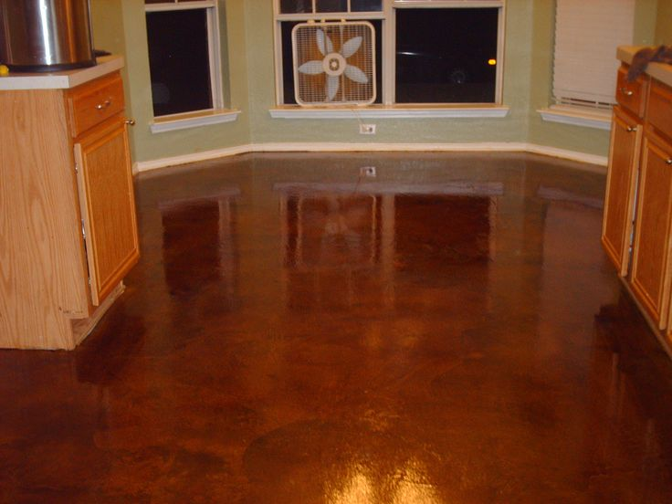concrete stain, Cola, High Gloss Industrial Sealer, from makeuglybeautiful.com