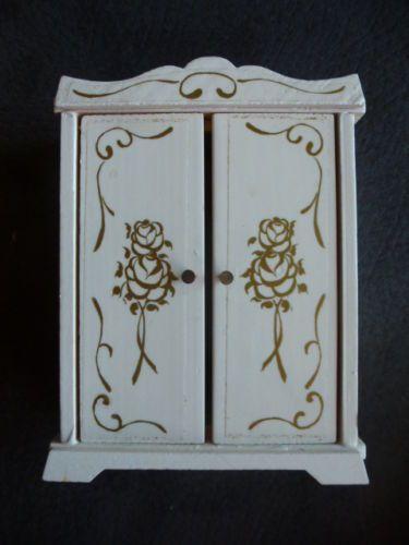 Lundby-Lisa-Puppenhaus-Schrank-in-weiss Dollhouses Lundby\/Lisa - schlafzimmerschrank weis