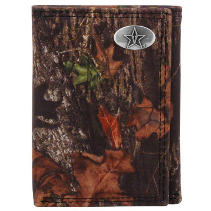 Vanderbilt Commodores Mossy Oak Break-Up Leather Tri-Fold Wallet - Camo - $22.99