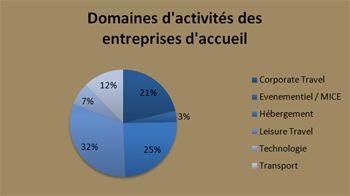 Domaines d'activités des entreprises d'accueil