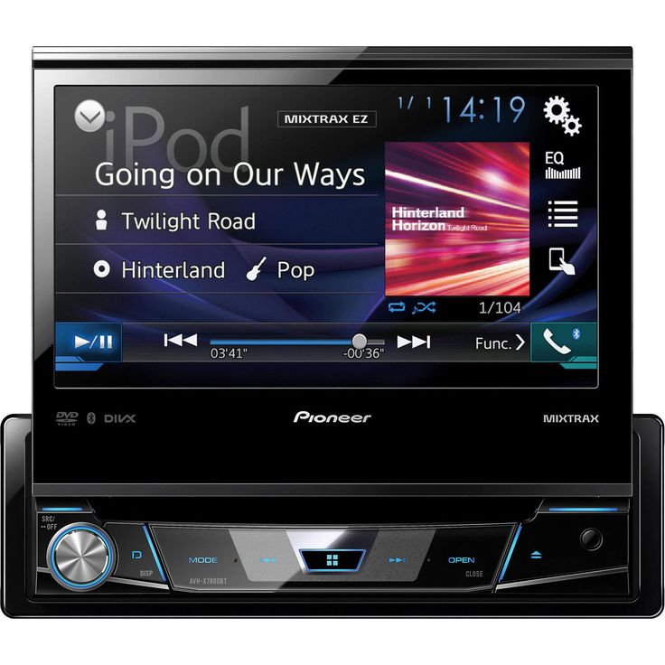 Pioneer 1-DIN Car DVD Player 7 Flip-out Touchscreen Display Bluetooth USB AUX