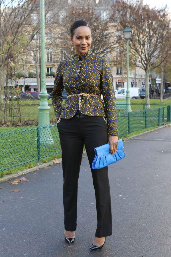 Inspiration - Veste en pagne style militaire par Scheena ~Latest African Fashion, African women dresses, African Prints, African clothing jackets, skirts, short dresses, African men's fashion, children's fashion, African bags, African shoes ~DK
