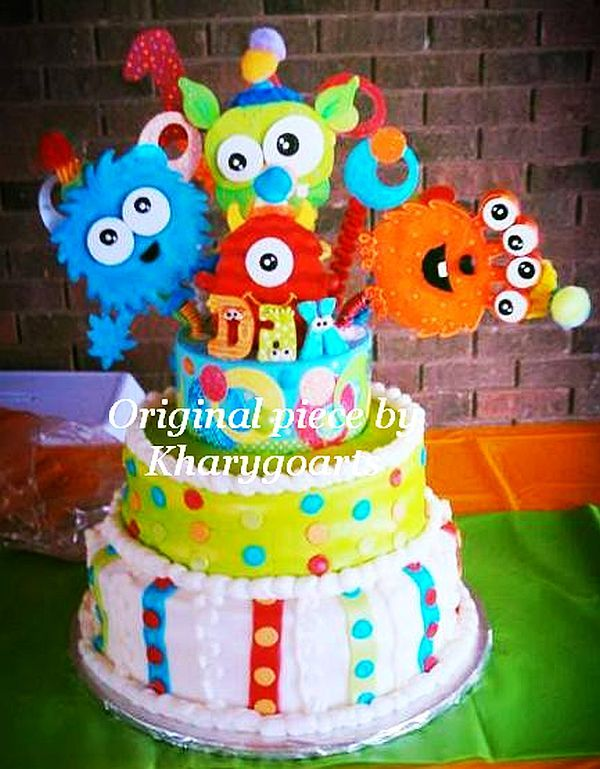 Birthday Cake Centerpieces