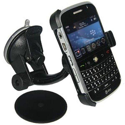 Amzer Suction Cup Windshield, Dash or Console Mount for BlackBerry Bold 9000 - Black. 3 mounting solutions in 1 product for your Blackberry Bold. Perfectly designed for use on the windshield, dash or console. Suction Cup Mount is designed specifically for your Blackberry Bold. Soft holder grips and backing will not scratch your device and holds your phone securely. Fits All Vehicles. Installs easily in seconds without any tools.