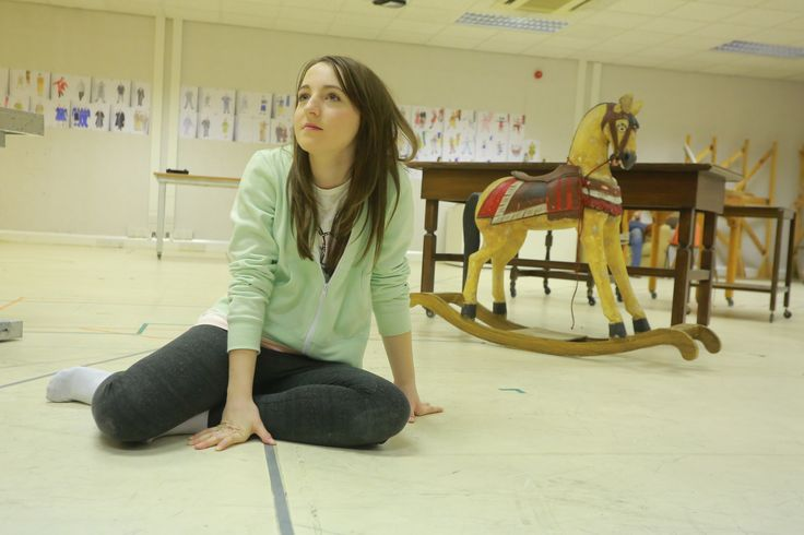 Kirsty MacLaren in rehearsals for Miracle On 34th Street - opens this Friday, 28 November! #theatre