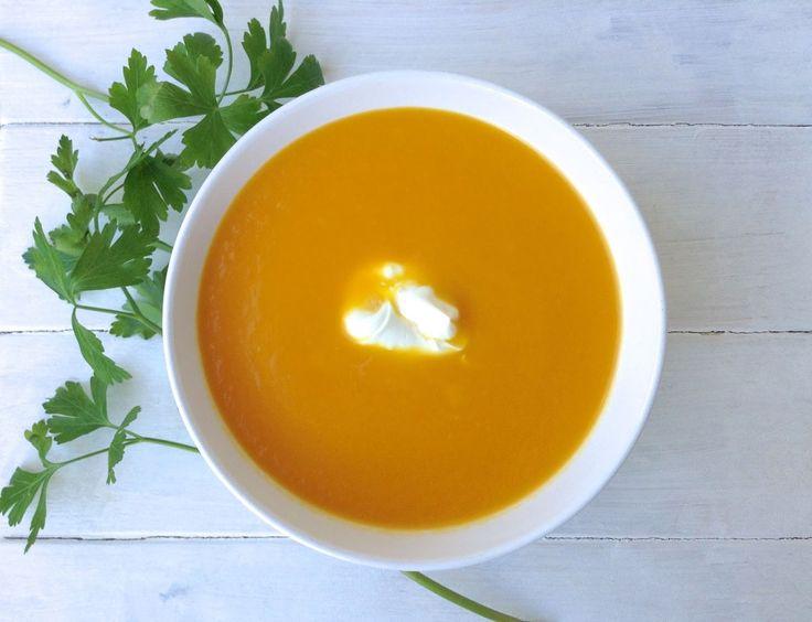 Crema de zanahoria, naranja y ginger