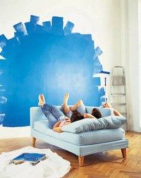 Le Bleu et  le Vert - Agencer la couleur dans la maison - Utilisés dans des tonalités claires, les bleus et les verts sont reconnus pour leurs vertus apaisantes et relaxantes. Souvent utilisé dans la salle de bains ou une chambre d'enfant...