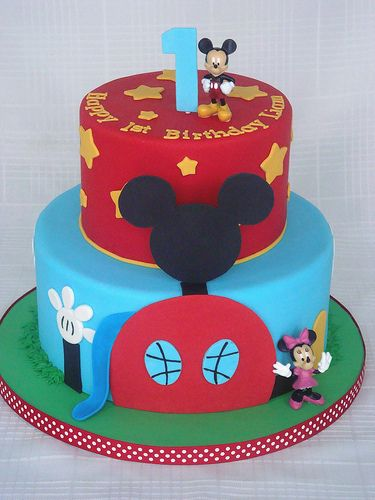 Torta Mickey Mouse decorada