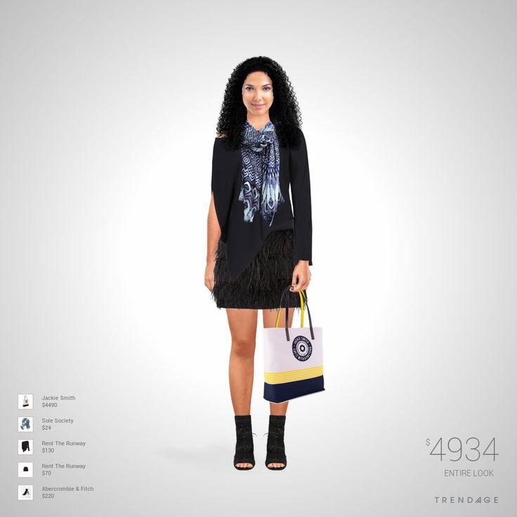 Traje de moda hecho por Diana usando ropa de Rent The Runway, Sole Society, Abercrombie & Fitch, Jackie Smith. Estilo hecho en Trendage
