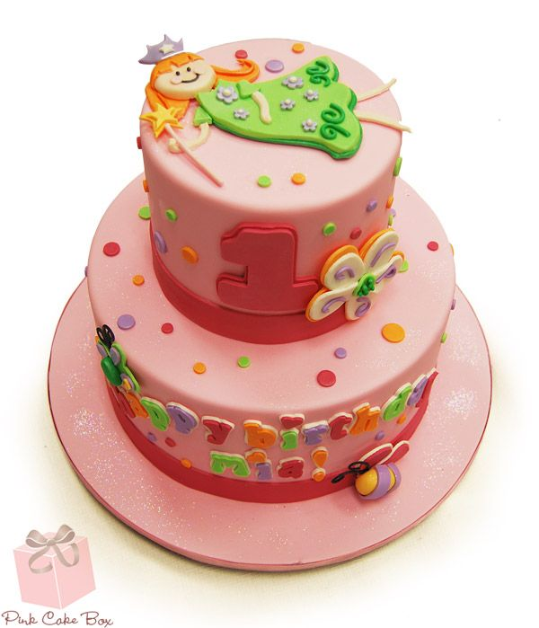 Princess Fairy 1st Birthday Cake Childrens Cakes