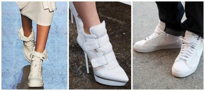 Белые ботинки с чем носить