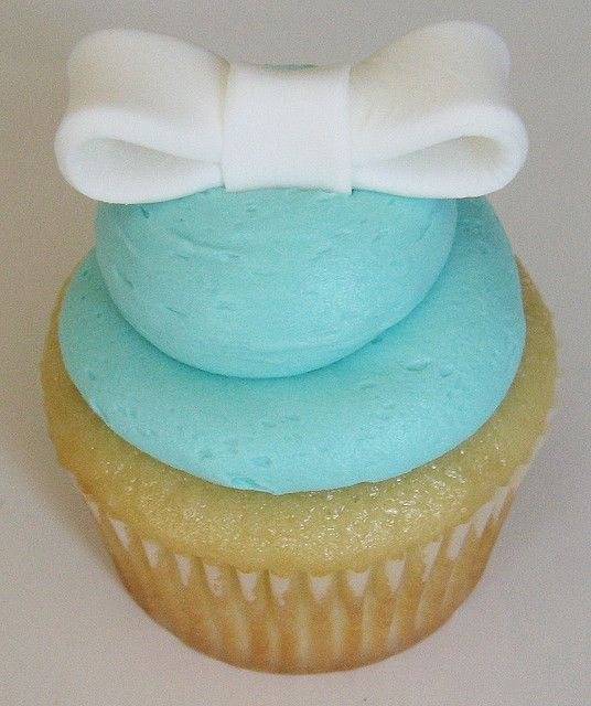 Aqua cupcake-instead of white bow, use silver sprinkles instead with gray chevron cupcake wrapper