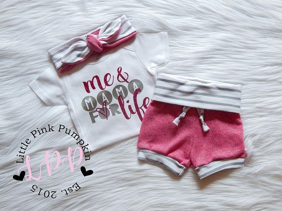 Vêtements de bébé fille moi et maman pour la vie de Mama
