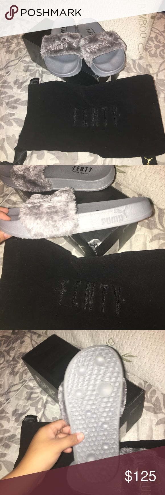 Puma Rihanna fur sliders brand new size 7 in women comes with box dust bag puma Shoes Sandals