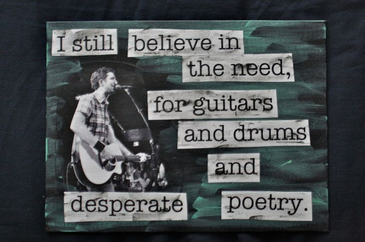 I STILL BELIEVE IN THE NEED FOR GUITARS AND DRUMS AND DESPERATE POETRY - Frank Turner