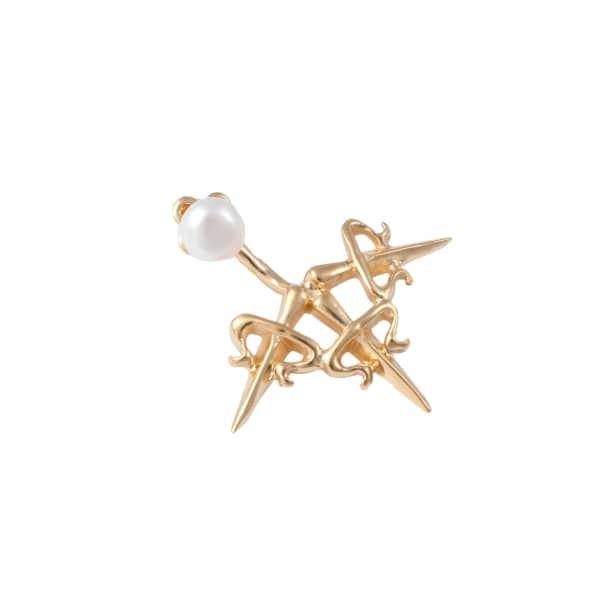 SALE -20% | Dagger Ear Jacket Gold | LEIVANKASH | Wolf & Badger / Women / Jewellery / Earrings