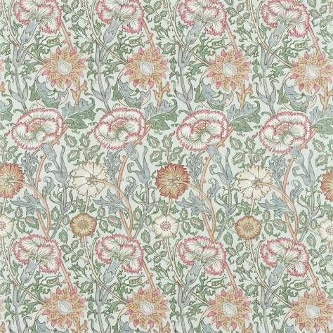 William Morris & Co Archive Prints 2 Fabrics Pink & Rose Fabric - Eggshell / Rose - 222532
