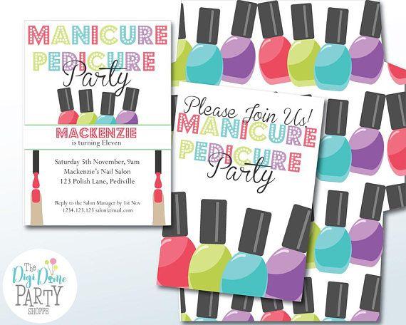 Nail Salon/Manicure Pedicure Party Printable Invitation