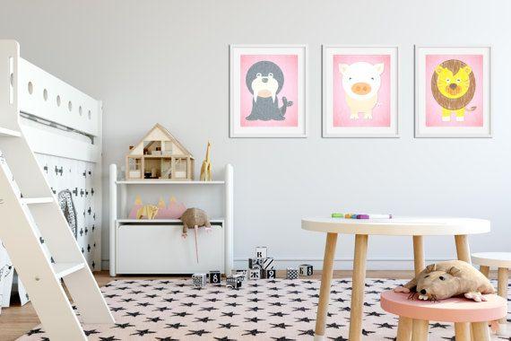 Little seal Print Little lion print Piggy Nursery by MyGalleryWall