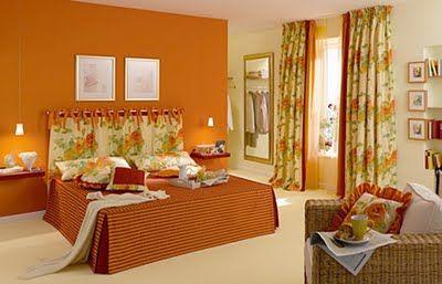 Colores para dormitorios matrimoniales buscar con google mi estilo pinterest gourmet - Habitaciones color naranja ...