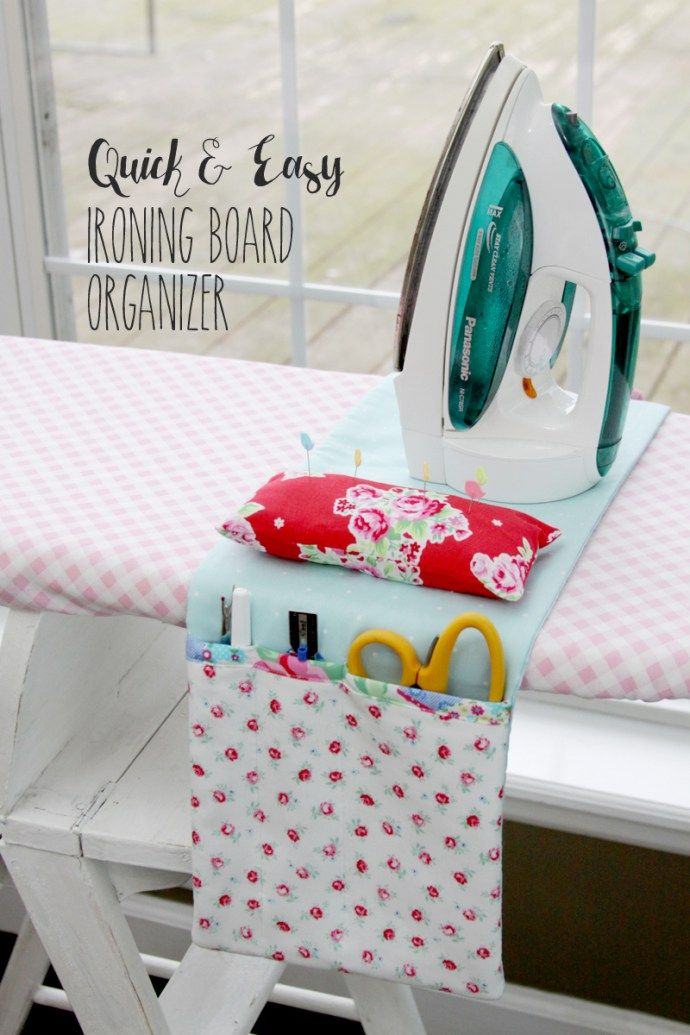 Quick and Easy Ironing Board Organizer | Free project from FlamingoToes