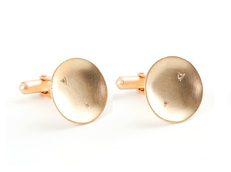 'Cup cufflinks' by Ali Limb  9ct yellow gold, diamonds  Available in store and online  http://egetal.com.au/store/product/ASL1064