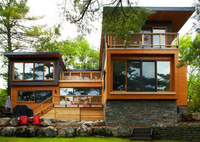 Maison de bois contemporaine