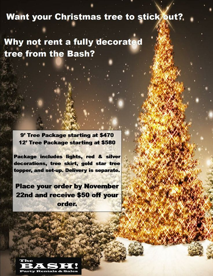 one of our christmas tree rental promo flyers - Rent A Christmas Tree