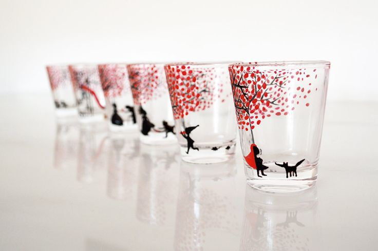 Fairy Tales - Shot Glasses Set di HandpaintedAndCo su Etsy