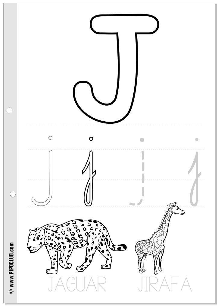 Letra J | Trazar | Pinterest | Teaching, Preschool y Education