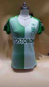 Women Atletico Nacional 2017-18 Season Home Green Soccer Jersey [K102]
