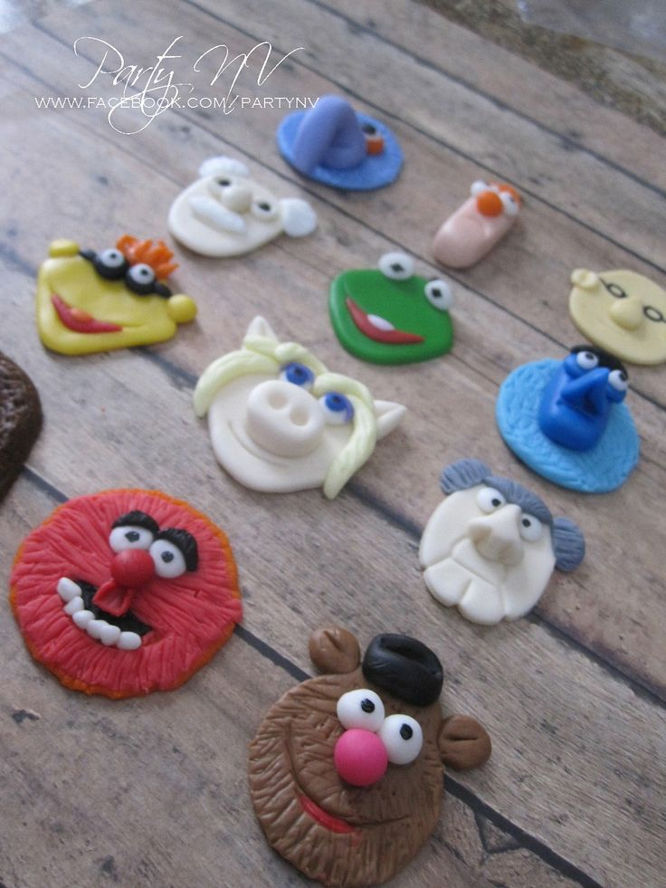 EDIBLE (Fondant Cupcake Toppers) - Muppets Inspired
