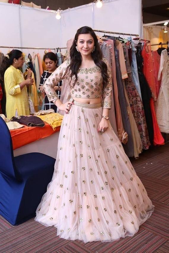 Details about  /STYLISH DESIGNER BOLLYWOOD WEDDING INDIAN WOMEN LENGHA PARTY WEAR LEHENGA CHOLI