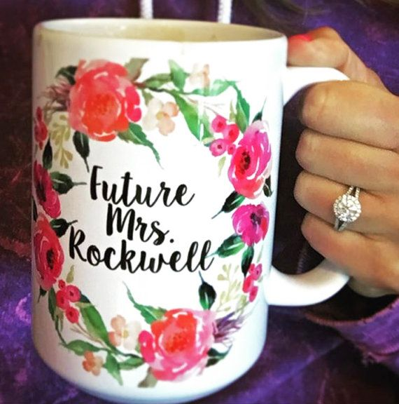 Engagement Mug Personalized Future Mrs Mug by WillowAndOlive