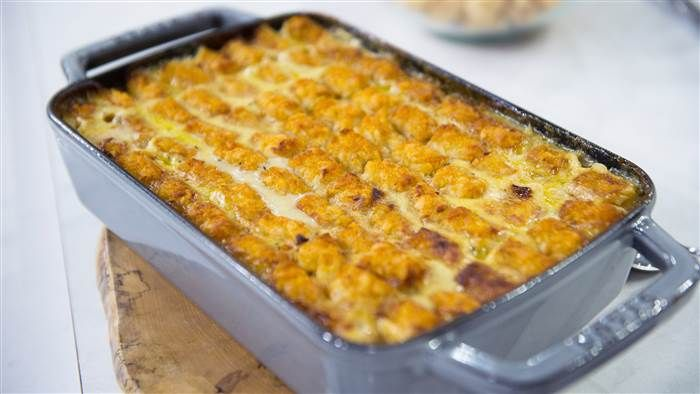 Molly Yeh's Tater Tot Chicken Pot Pie recipe