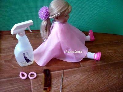 Chantalanta : Как красиво оформить пробор кукле Готц.