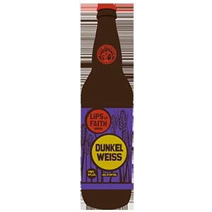 """Deep amber brown with a dense off-white head, Dunkelweiss rediscovers hefeweissbiers through a Belgian brewer's lens. Envisioned by our own Matty """"Smooth"""" Gilliland, this beer opens with sweet clove, chocolate and banana notes that give way to a warm finish with a peppery tingle across the palate.    """"I thought it would be fun to make a German wheat beer; we've explored the Belgian wheats pretty thoroughly,"""" said brewer, Matt Gilliland. """"Since this is Lips of Faith, and part of what makes…"""