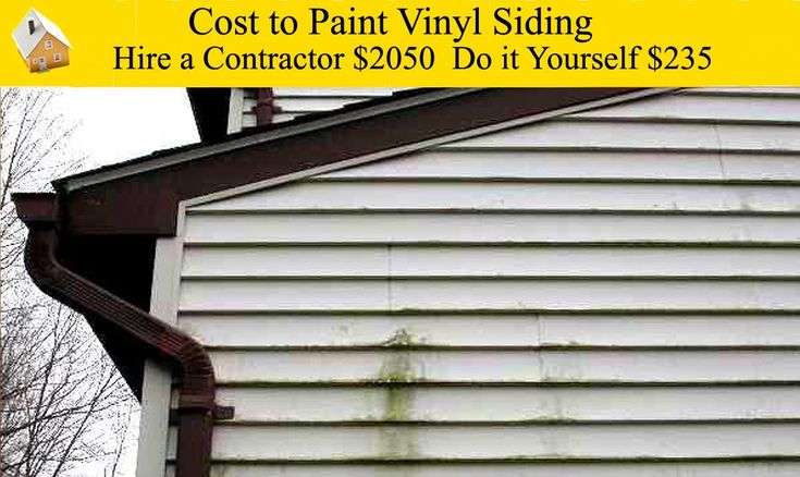 Cost To Paint Vinyl Siding Make Old Siding Look Like New