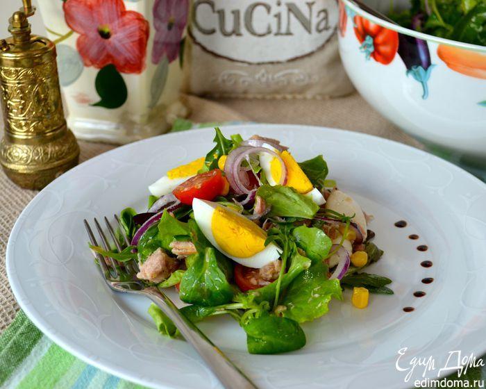 """Салатный микс """"Любимый"""". Рецепт вкусного и быстрого в приготовлении салата на все случаи жизни. #edimdoma #recipe #cookery #salad"""