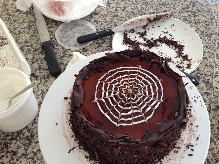 Cake , hand made , baking , kitchen , chocolate caramel filled cake