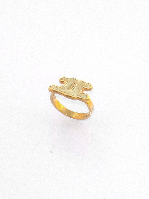 Gemini Ring  Zodiac Ring  Horoscope Ring  by profoundgarden