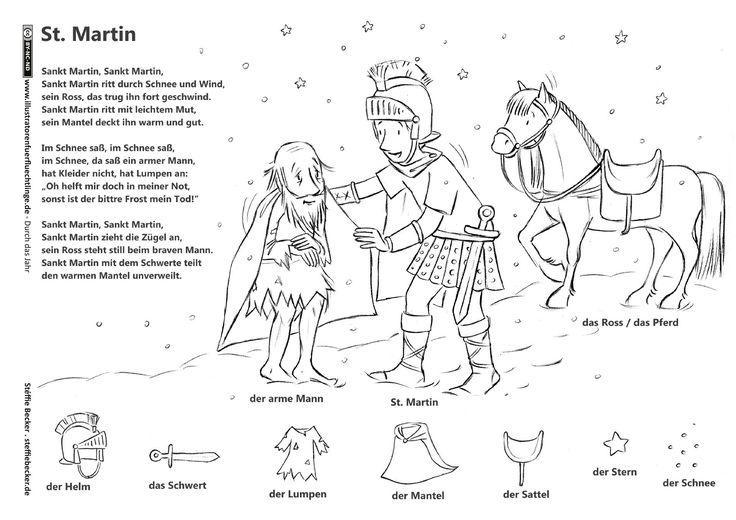 Download als PDF:Durch das Jahr – Sankt Martin Legende Lied – Becker