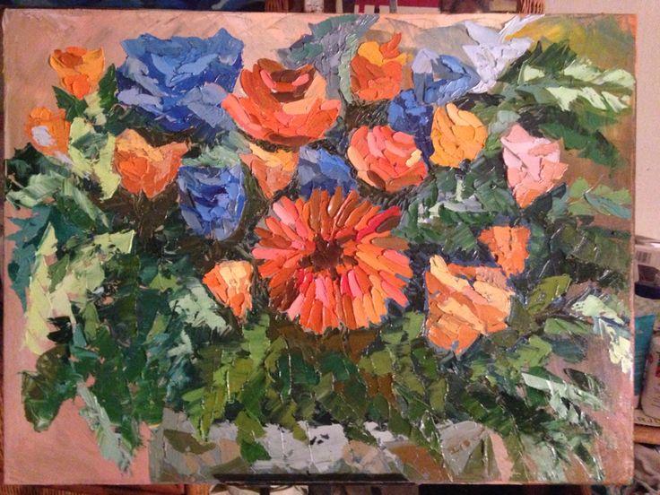 Flores, oil paint