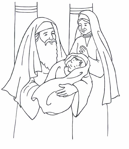 simeon anna and baby jesus luke 2
